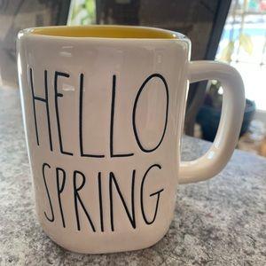 Rae Dunn Hello Spring White and Yellow Mug